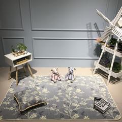 Djs-Home花卉款全棉地垫 70*180cm 枝叶曼舞