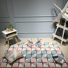 Djs-Home   简约款全棉地垫 110*210cm 阳光旅行(粉)