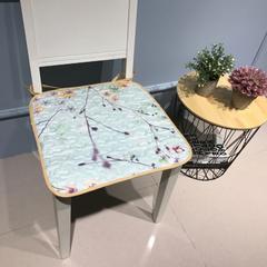 Djs-Home  花卉款全棉椅垫 40x40cm 阳光草1