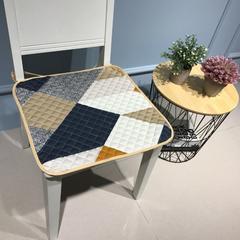 Djs-Home  简约款全棉椅垫 40X40cm 格韵1