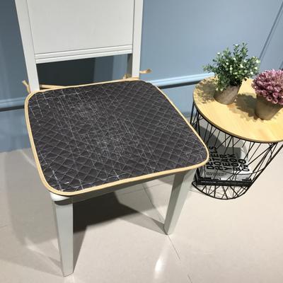 Djs-Home  简约款全棉椅垫 40X40cm 慢未来咖