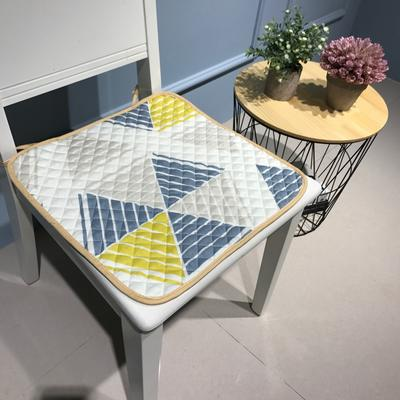 Djs-Home  簡約款全棉椅墊 40X40cm 密彩(黃)1