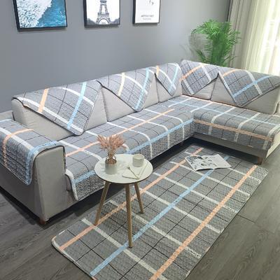 简约系列全棉沙发垫 70*70cm 格子情缘