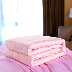 暖雅家纺40支全棉提花蚕丝被密度173x75剑杆大提花 220x240 100%桑蚕丝填充1斤 玉色