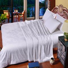 暖雅家纺60支全棉提花蚕丝被密度173x130全工艺大提花 200x230 100%榨蚕丝填充4斤 白色
