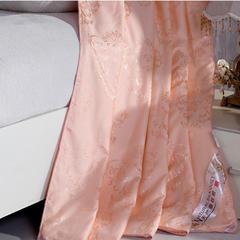 暖雅家纺全棉贡缎金提花蚕丝被密度173x75剑杆提花织造 220x240 100%榨蚕丝填充4斤 玉色