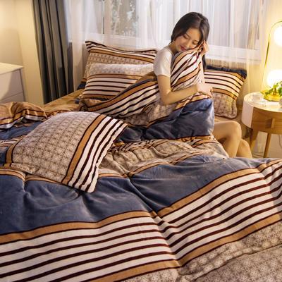2019秋冬-牛奶絨四件套系列 床單款三件套1.2m床 暖暖陽光
