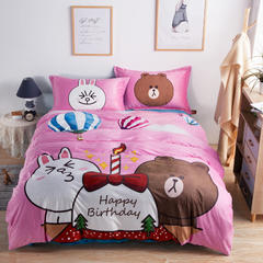 微乐 数码印染宝宝绒四件套 1.5m(5英尺)床 童话