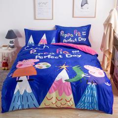 微乐 数码印染宝宝绒四件套 1.5m(5英尺)床 小猪佩琪