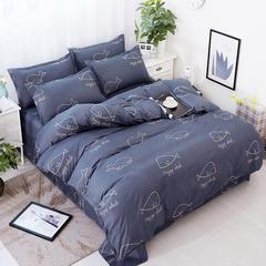 卡斯诺 芦荟棉四件套 1.0m(3.3英尺)床 小蓝鲸