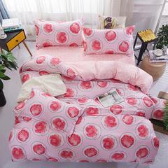 芦荟棉四件套经典花型 系列三 2.2m(7英尺)床 甜蜜生活