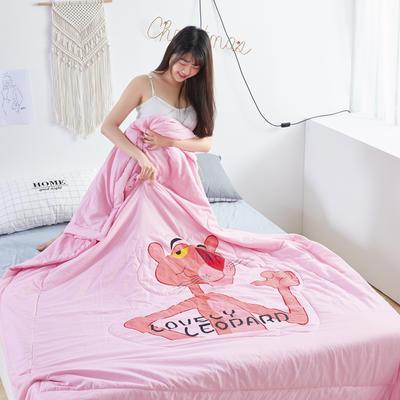 2019新款大版水洗夏被 150x200cm 粉红豹-粉