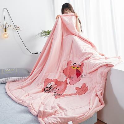2019新款大版水洗夏被 150x200cm 粉红豹-玉