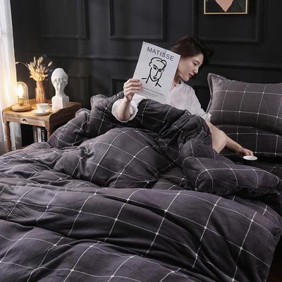 2019新款法莱绒花型四件套 1.2m(4英尺)床单款三件套 憧憬