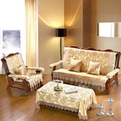 欧式提花沙发垫 三人170cm 富贵金-A