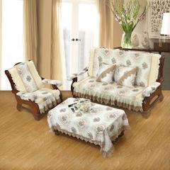 装饰布拼接沙发垫-罗马假日 大桌布100*150 驼色