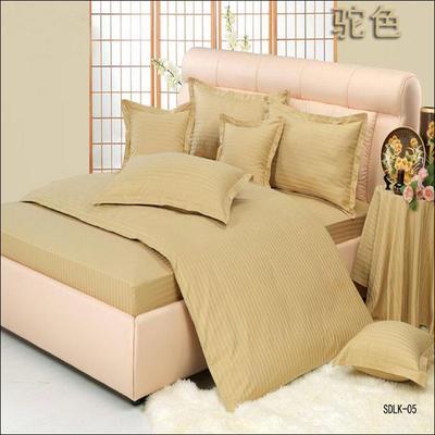纯色缎条系列四件套 1.5m(5英尺)床 驼色