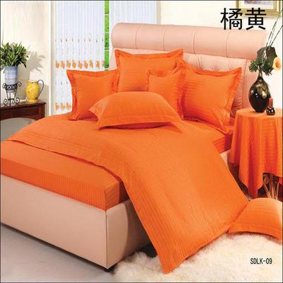 纯色缎条系列四件套 1.5m(5英尺)床 橘黄