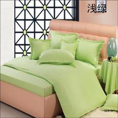 纯色缎条系列四件套 2.0m(6.6英尺)床 浅绿
