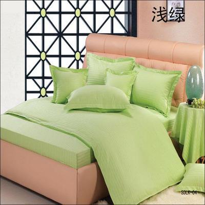 纯色缎条系列四件套 1.5m(5英尺)床 浅绿