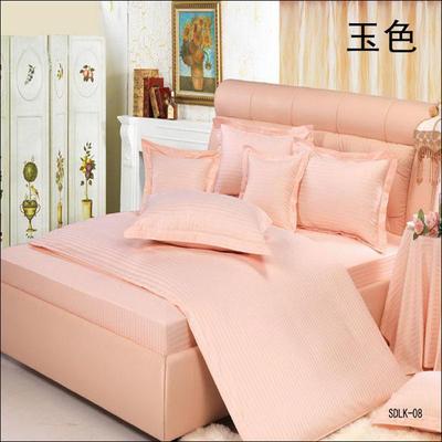 纯色缎条系列四件套 1.5m(5英尺)床 玉色
