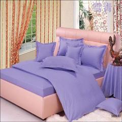 纯色缎条系列四件套 2.0m(6.6英尺)床 雪青