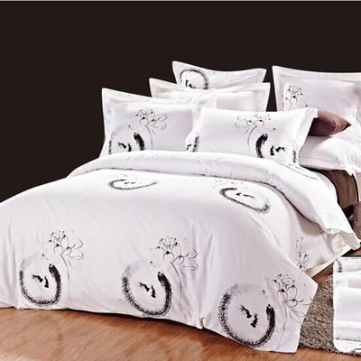 印花系列四件套 1.5m(5英尺)床 荷塘月色