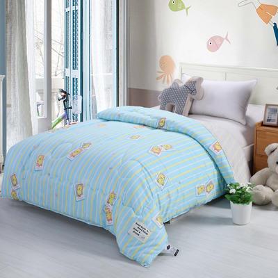 全棉儿童冬被 120x150cm 小黄鸭-蓝