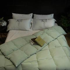 水洗棉被子 200X230cm 纯色天空- 绿