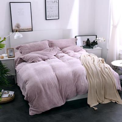 全棉拉舍尔纯色款四件套 1.8m(6英尺)床 玉色