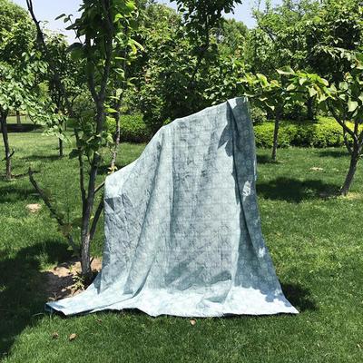 小云朵 2017年色织水洗双层纱大提花夏被 200X230cm 图腾