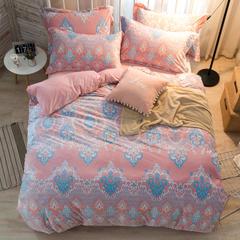 (总)爆款 6D立体雕花绒四件套加厚宝宝绒保暖法莱绒水晶绒 2.0m(6.6英尺)床 美好时光