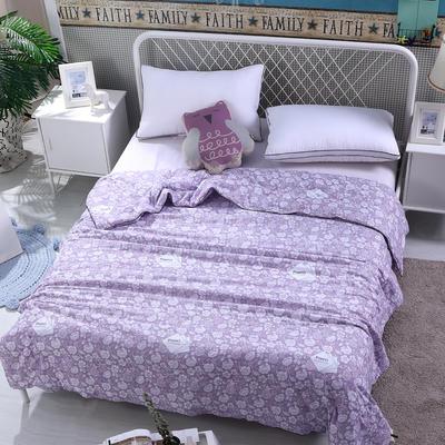 水洗棉印花夏被可配三件套 150x200cm 花语-紫