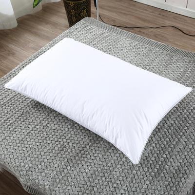 2019新款-全棉高密度13372面料全棉羽丝绒枕芯 低枕