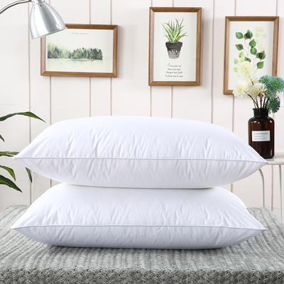 2019新款-全棉高密度13372面料全棉羽丝绒枕芯 中枕