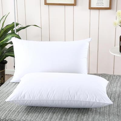 2019新款-全棉高密度13372面料全棉羽丝绒枕芯 高枕