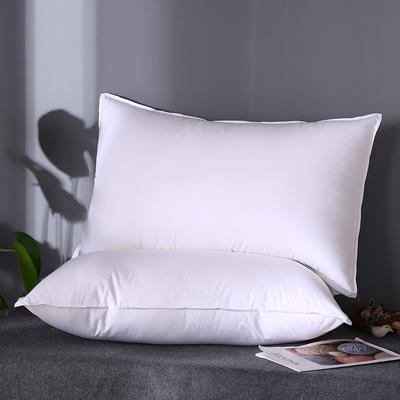 2019新款全棉133100星级酒店专供双针羽丝绒软枕芯枕头 白色48*74cm/只