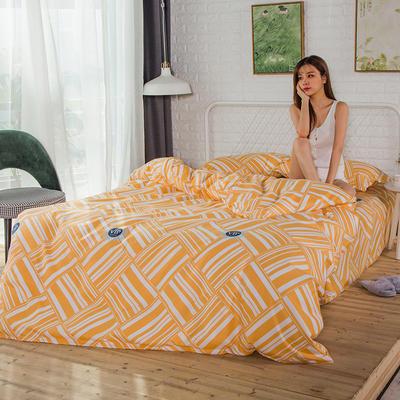 2019新款-植物羊绒四件套 三件套1.2m(4英尺)床 活力时光