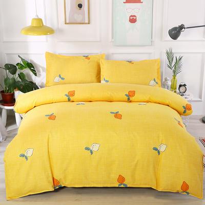 2019新款-植物羊绒四件套 三件套1.2m(4英尺)床 可爱萝卜