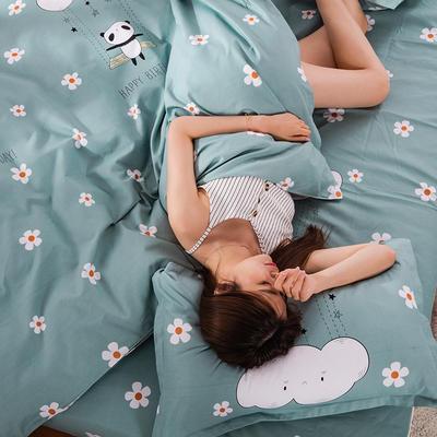 2020新款-植物羊绒四件套高克重斜纹多规格 1.5m(5英尺)床 快乐小熊