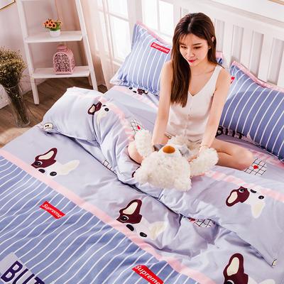 2020新款-植物羊绒四件套高克重斜纹多规格 1.5m(5英尺)床 酷酷狗