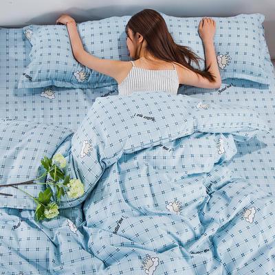 2020新款植物羊绒四件套场景三 1.5m(5英尺)床 我们最好的-蓝