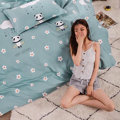 2020新款植物羊绒四件套场景三 1.5m(5英尺)床 快乐小熊