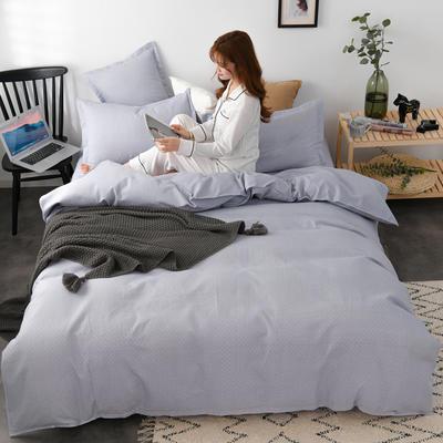 2020新款-植物羊绒四件套高克重斜纹多规格 三件套1.2m(4英尺)床 文黛-灰