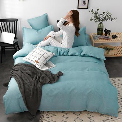 2020新款-植物羊绒四件套高克重斜纹多规格 三件套1.2m(4英尺)床 文黛-蓝