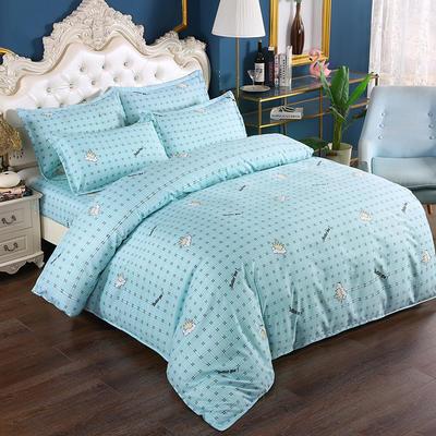2020新款植物羊绒四件套场景二 1.5m(5英尺)床 我们最好的-蓝