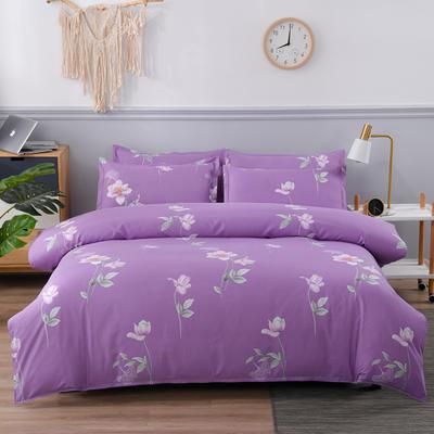 2020新款植物羊绒四件套场景五 1.5m(5英尺)床 木槿香