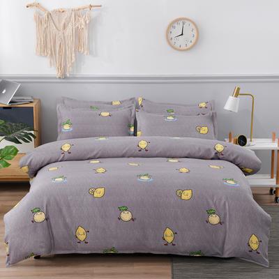 2020新款植物羊绒四件套场景五 1.5m(5英尺)床 柠檬派