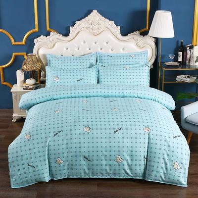 2020新款植物羊绒四件套场景五 1.5m(5英尺)床 我们最好的-蓝