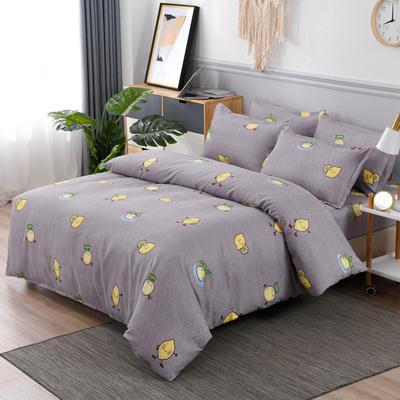 2020新款植物羊绒四件套场景六 1.5m(5英尺)床 柠檬派